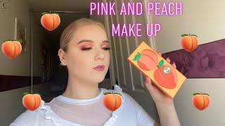 Pink and Peach Makeup Tutorial- Revolution Tasty Peach Palette | Ashleigh James