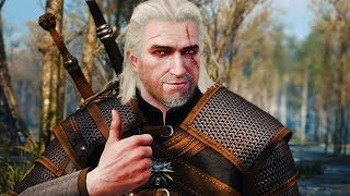 Best Relic Moonblade Silver Sword & Geralt Pimp Slaps Some Bandits - The Witcher 3 Gameplay