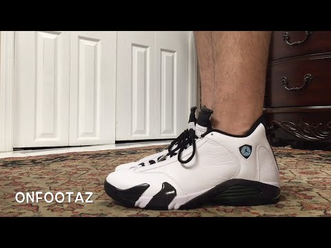 db87b4cebd9 Air Jordan 14 XIV Oxidized Green 2016 On Foot - YouTube