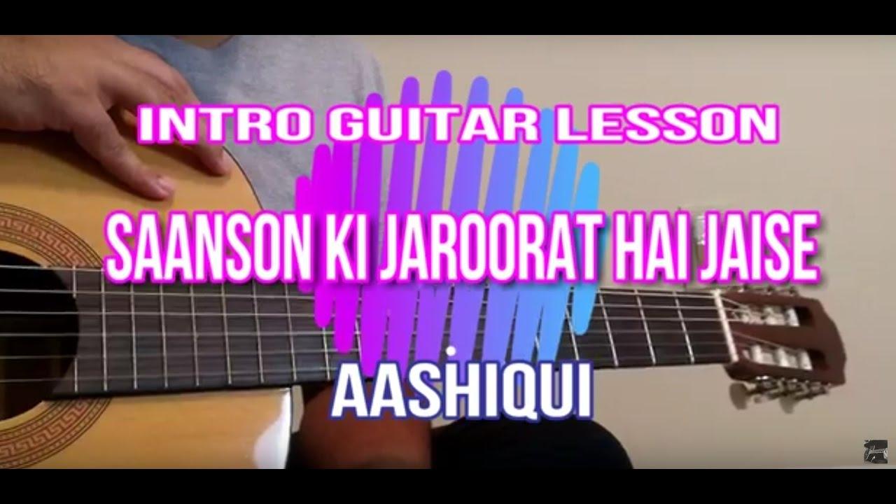 aashiqui-sanson ki zaroorat hai theme on guitar