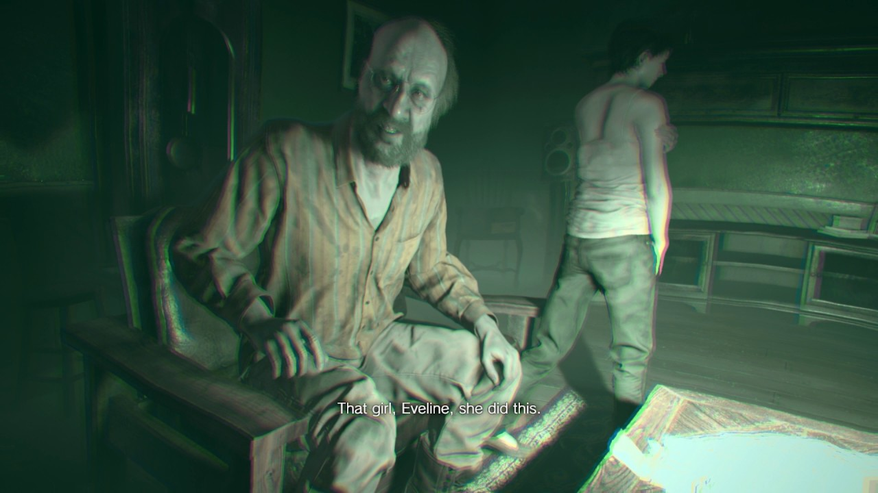 Resident Evil 7 Jack Baker Pleads To Ethan Eveline Did This