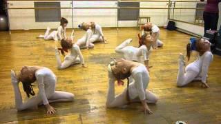 """Фитнес клуб """"Стрекоза"""", открытый урок по художетсвенной гимнастике."""
