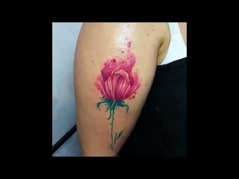 Fiore watercolor eseguito da GRETA