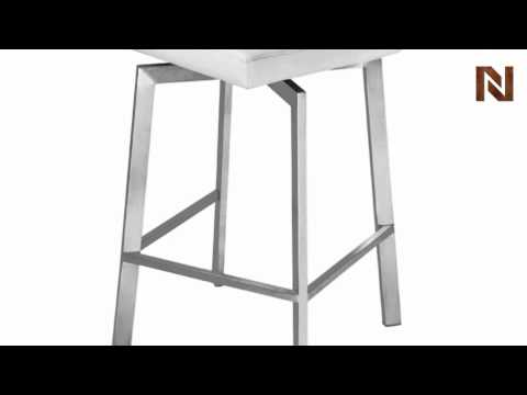 Nuevo Constantine bar stool white leather HGTA294