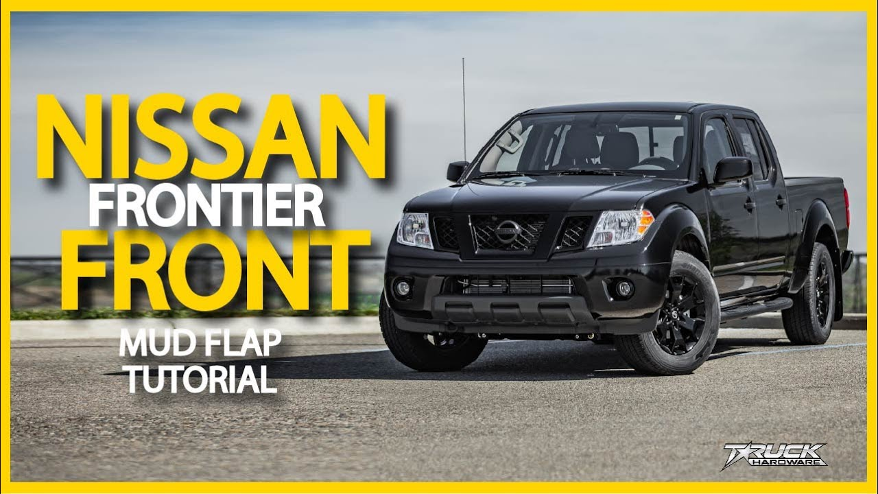 2019 Nissan Frontier Front Mud Flap Installation