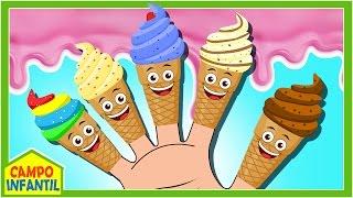 Familia Dedo de Helados - Ice Cream Finger Family - y más Canciones Infantiles | Campo Infantil