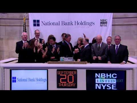 National Bank Holdings Corporation Celebrates IPO