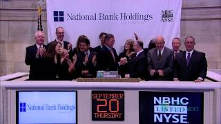 National Bank Holdings Corporation Celebrates IPO