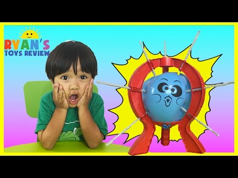Thumbnail: BOOM BOOM BALLOON Family Fun Balloon Pop Challenge Egg Surprise Toys Ryan ToysReview