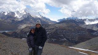 Visão do alto da montanha Chacaltaya - El Alto (Bolívia) 04/2013