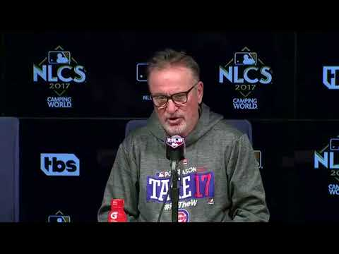 Joe Maddon Postgame Interview | Cubs vs Dodgers Game 2 NLCS