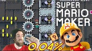 99% IMPOSIBLE #4 by ZetaSSJ | 0.04% Spin Jump Kaizo | Super Mario Maker