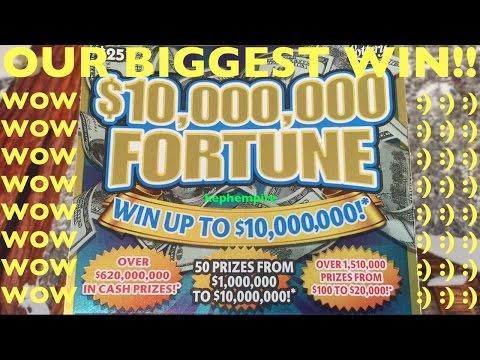 OMG BIGGEST WIN ON BIGGEST SCRATCHER EVER!!! $10,000,000 FORTUNE SCRATCHER