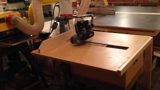 This is a V-drum sander that I made for my woodworking shop. The larger scratch pattern provides a better surface finish than what