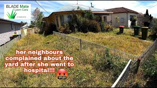 She was too ASHAMED to ask for HELP! Tall grass cutting Australia