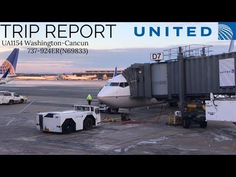 TRIP REPORT | Washington-Cancun | United Airlines | UA1154 | 737-924ER (N69833)