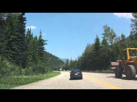 A drive from Vancouver, BC to Calgary, AB