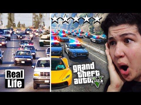 GTA 5 VS VIDA REAL!! GRAND THEFT AUTO V EN LA VIDA REAL thumbnail