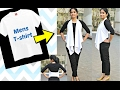 No Sew DIY: Convert Men's Tshirt to Flowy Girls' Jacket in 2 minutes