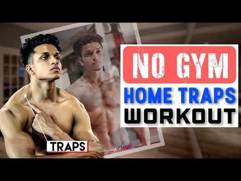 NO GYM Full TRAPS WORKOUT At HOME (No Equipment Needed)