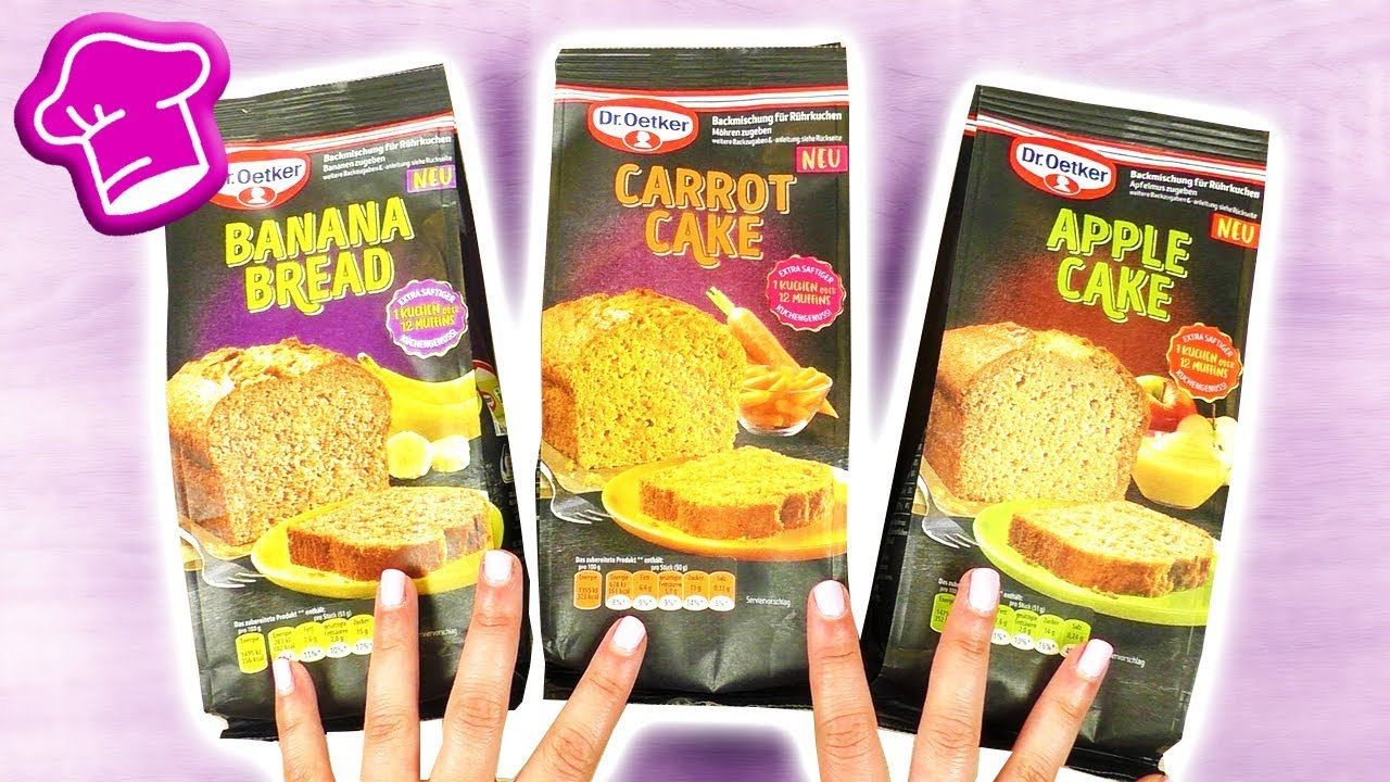 Neue Backmischungen Im Test Apple Cake Banana Bread Carrot