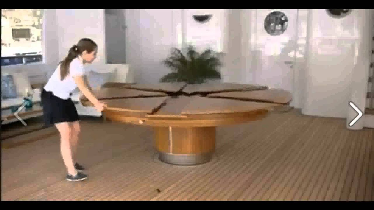 Round Expandable Dining Room Table Expandable‑Round‑Dining‑Table  Youtube