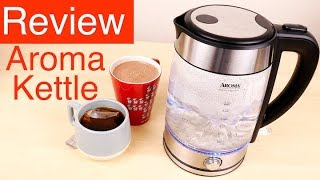 Aroma Housewares Awk-165M 1.7 L Electric Water Kettle Review