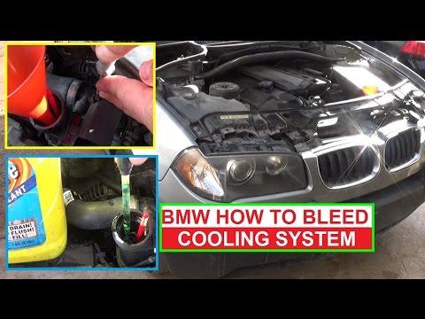 How to Bleed the Cooling System on BMW X3 E83 E46 325i 330i 323i 530i 525i  Antifreeze Bleeding Air