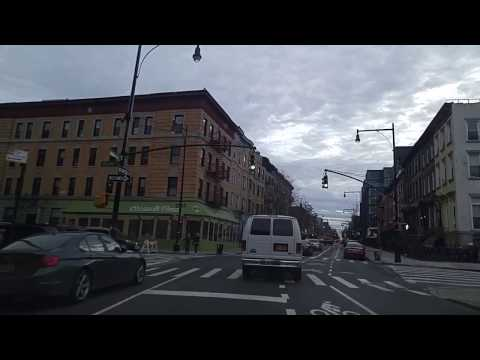 Driving from Bedford Stuyvesant to Crown Heights Brooklyn,New York