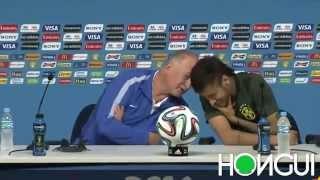 Reveladoras declaraciones de Scolari y Neymar a la prensa (Parodia)
