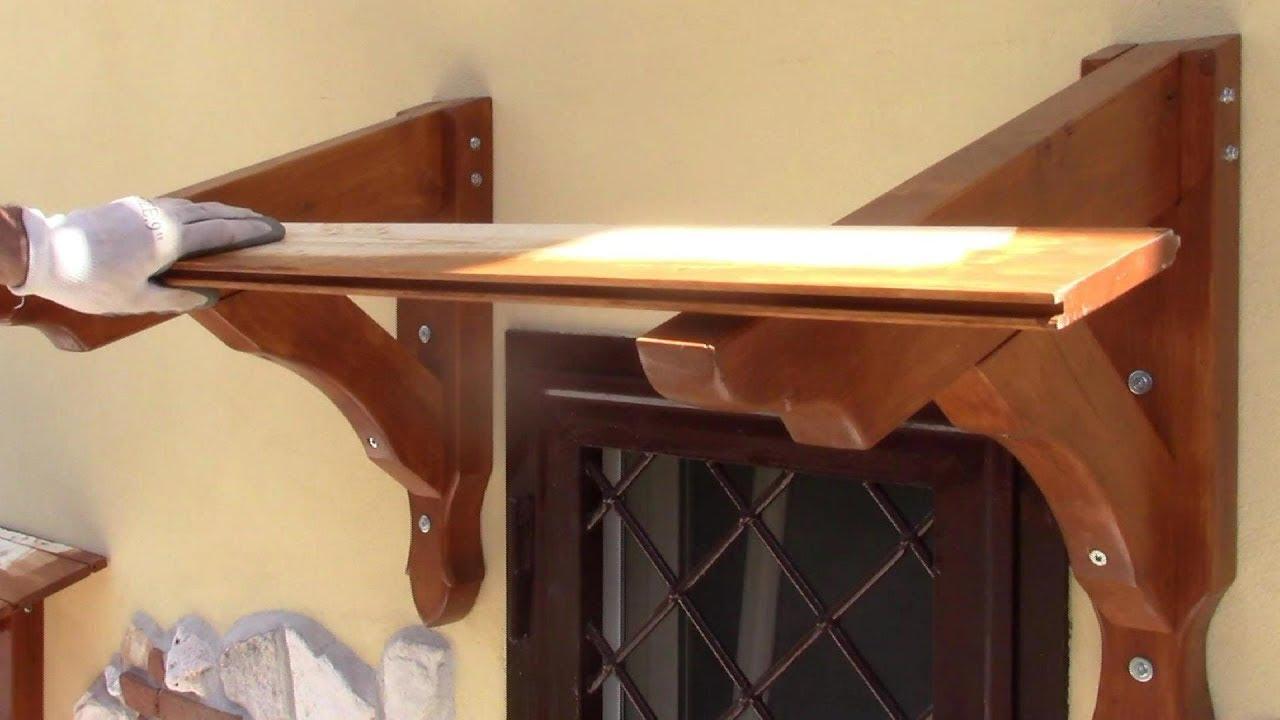 Tettoia Copri Finestra E Copri Balcone Laminated Timber Roof Window Canopy