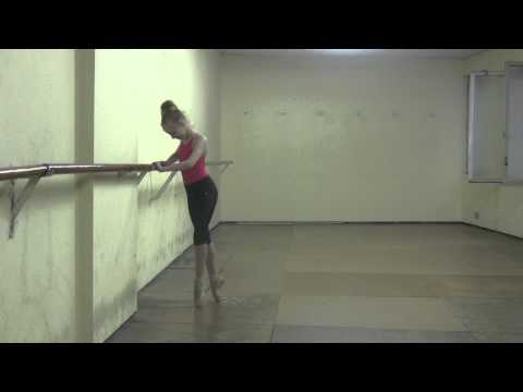 Ekaterina's  ballet daily training, 9 years old