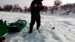 Рыбалка река Ишим февраль 2018