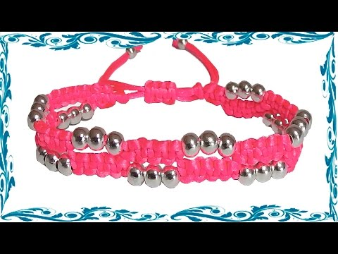 how to make bracelets with thread and beads