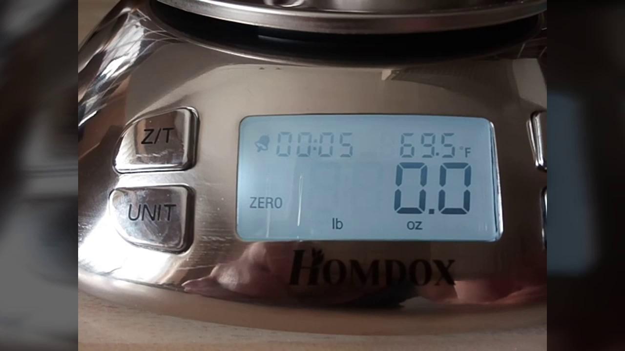 Homdox Digital Kitchen Scales + Bowl - YouTube