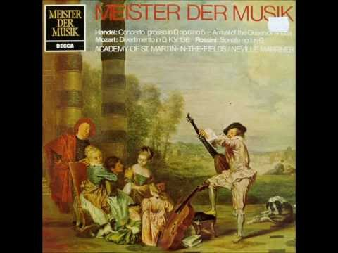 Sir Neville Marriner: Masters of Music (Händel / Mozart / Rossini - 1972 vinyl LP)