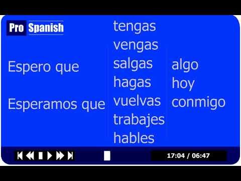 Advanced Spanish Course - Lesson 1