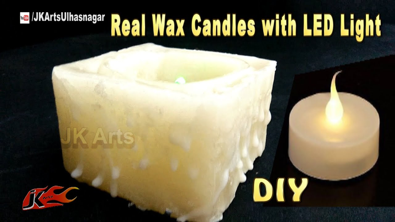 Completely new LED colour changing Real Wax Candles | How to make | JK Arts 1071  NR56