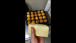 バター1kg使ってタコ焼き作ってみた結果・・・ #Shorts