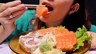 ASMR COMENDO SUSHI E SASHIMI  (Eating Sounds)