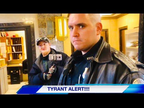 (must see)Tyrant Alert : WALK OF SHAME!!! 1st amendment audit FAIL ( DETAINED)