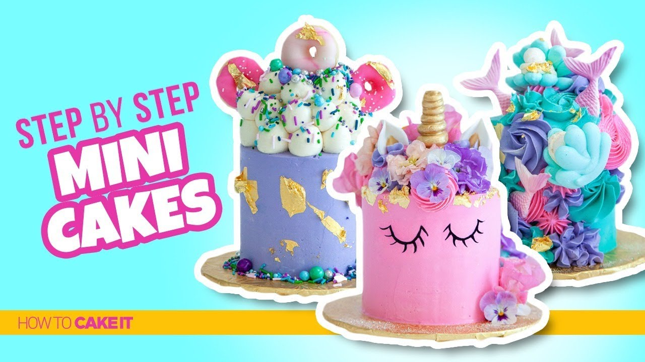 How To Make 3 AWESOME Mini Cakes Donuts By Jyoti Nanra