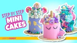 How To Make 3 AWESOME Mini Cakes & Donuts by Jyoti Nanra | How To Cake It Step By Step