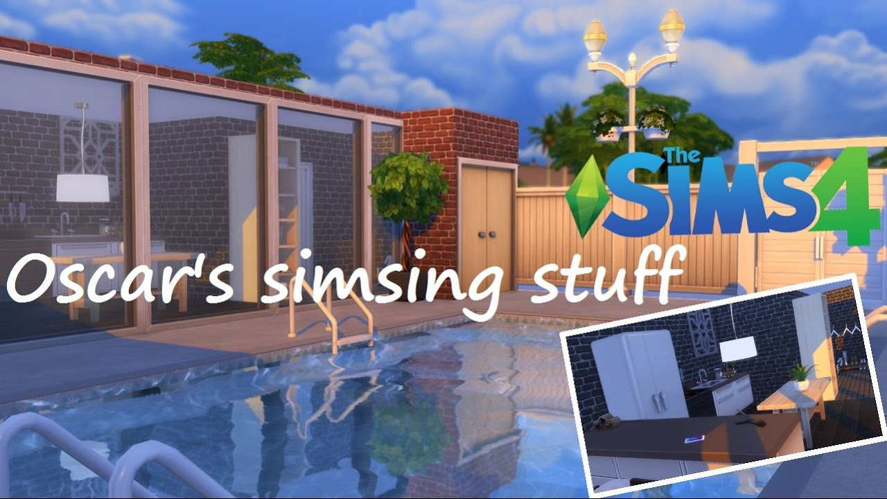 Sims 4 House Building || Pool House - YouTube