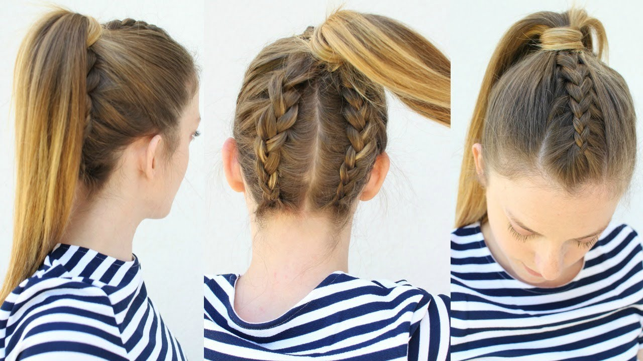 Upside Down Double Braided Ponytail