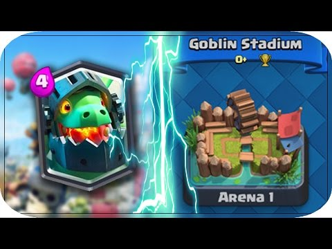 INSANE INFERNO DRAGON TROLLING IN ARENA 1!! - CLASH ROYALE A