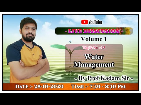 Topic 13 - Water Management