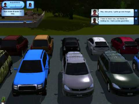 the first sims 3 car dealership youtube. Black Bedroom Furniture Sets. Home Design Ideas