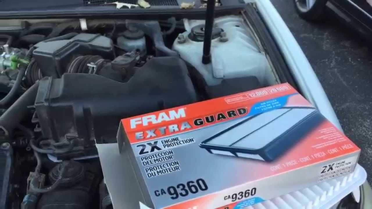 toyota camry 2002 2003 2004 2005 2006 air filter replacement diy v6 [ 1280 x 720 Pixel ]