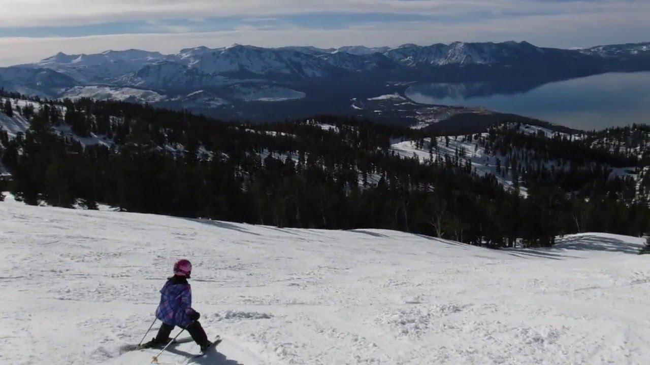 anabel skiing ellie's (black diamond run) at heavenly ski resort